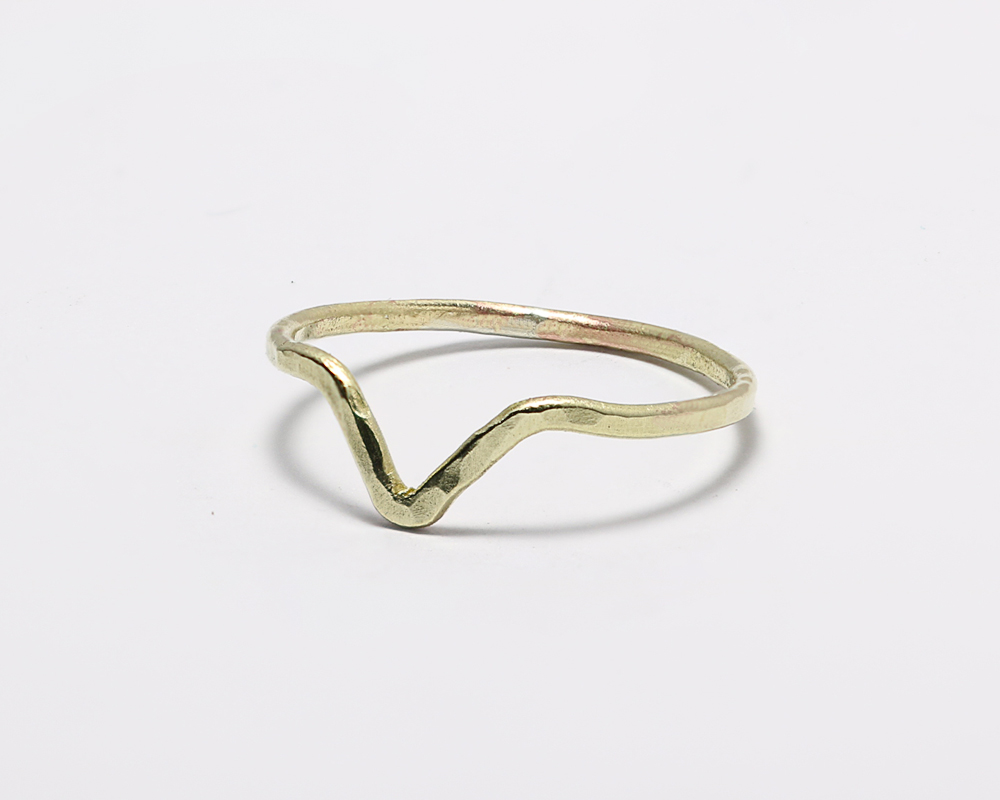 Chevron Brass Ring