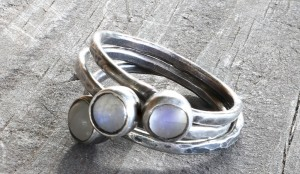 Stacking Moonstone Ring Set