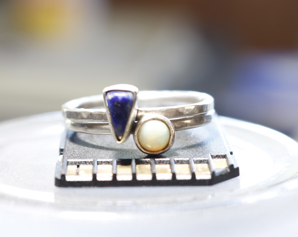 Lapis Tiny Stacking Ring